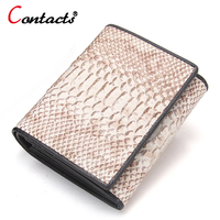 CONTACT S Genuine Leather Women Wallets Short Designer Brand Coin Clutch Purse Lady Party Wallet Female