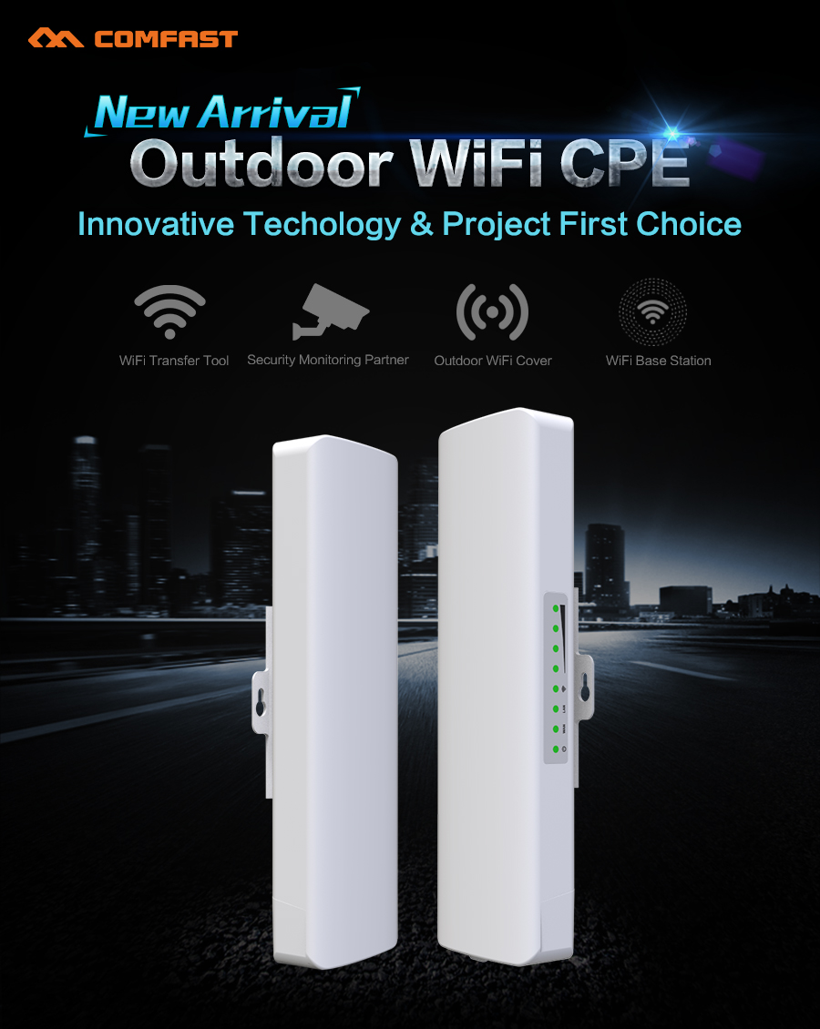 High power 500mW Wireless WIFI Router Repeater CPE Long Range 2KM 150Mbps Outdoor WI FI AP Router CPE AP Bridge Support OpenWRT