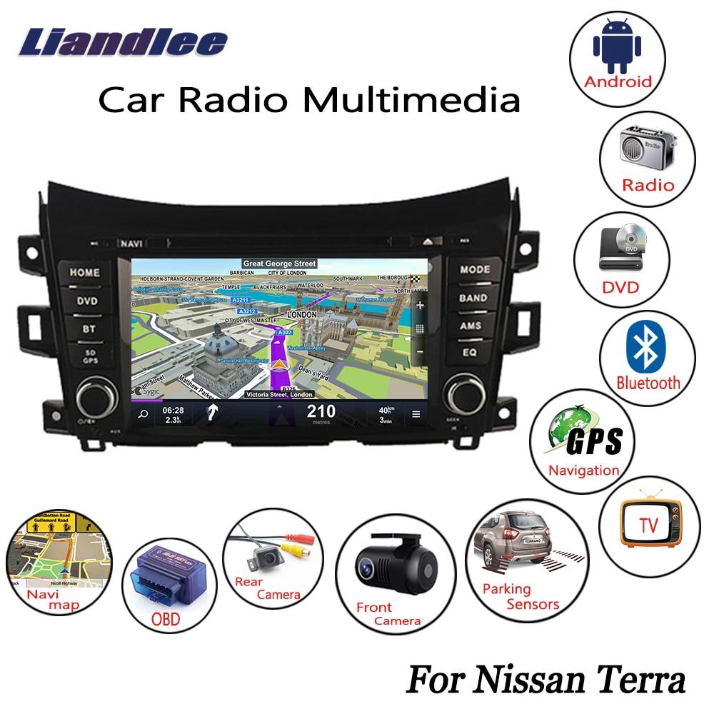 US $357 0 15% OFF Liandlee For Nissan Terra 2018 Android Car Radio CD DVD  Player GPS Navi Navigation Maps Camera OBD TV Screen Multimedia BT-in Car