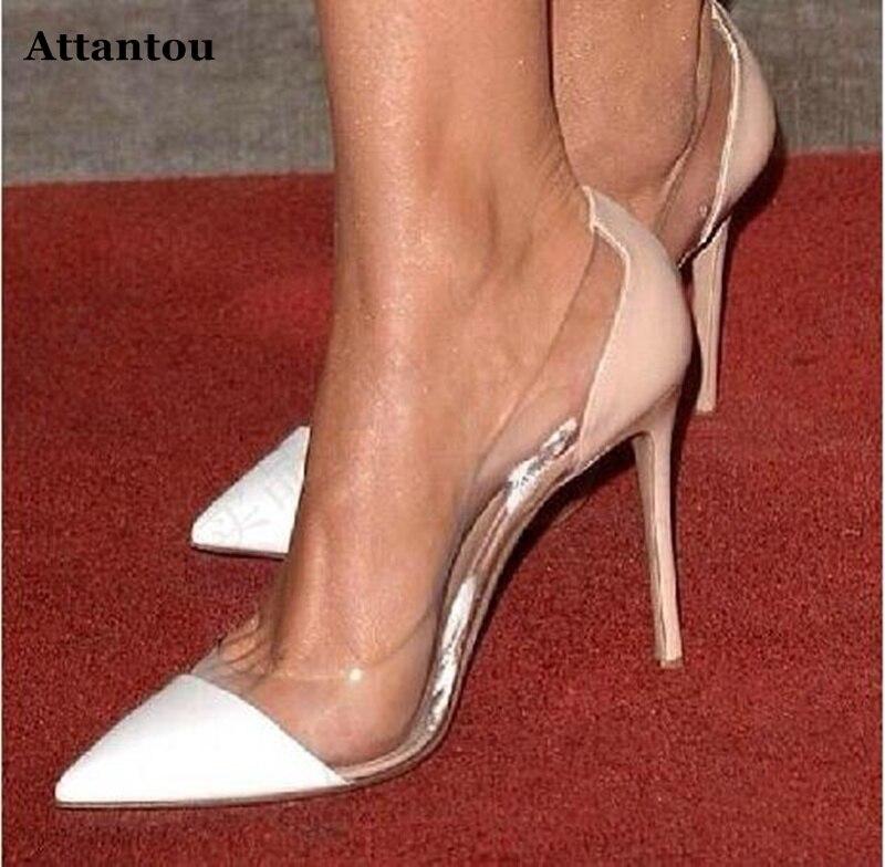 Attantou Side Pantofi femei transparente frumos Pantofi femei - Pantofi femei