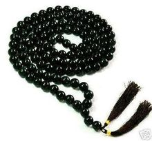 8mm 108 Tibetan Buddhist Black Agate Prayer Beads Bracelet