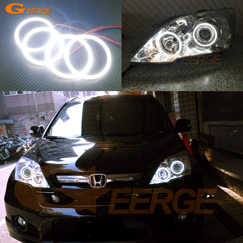 For HONDA CR-V CRV 2010 2011 PROJECTOR HEADLIGHTS Excellent Ultra bright illumination smd led Angel Eyes Halo Ring kit право п дручник 2010 2011