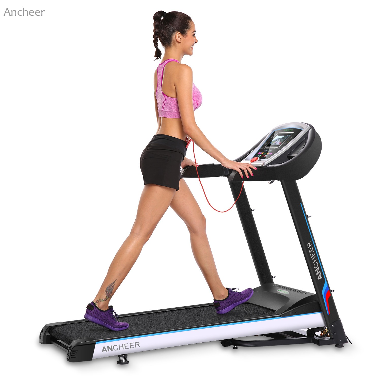 Ancheer electric treadmill fitness folding