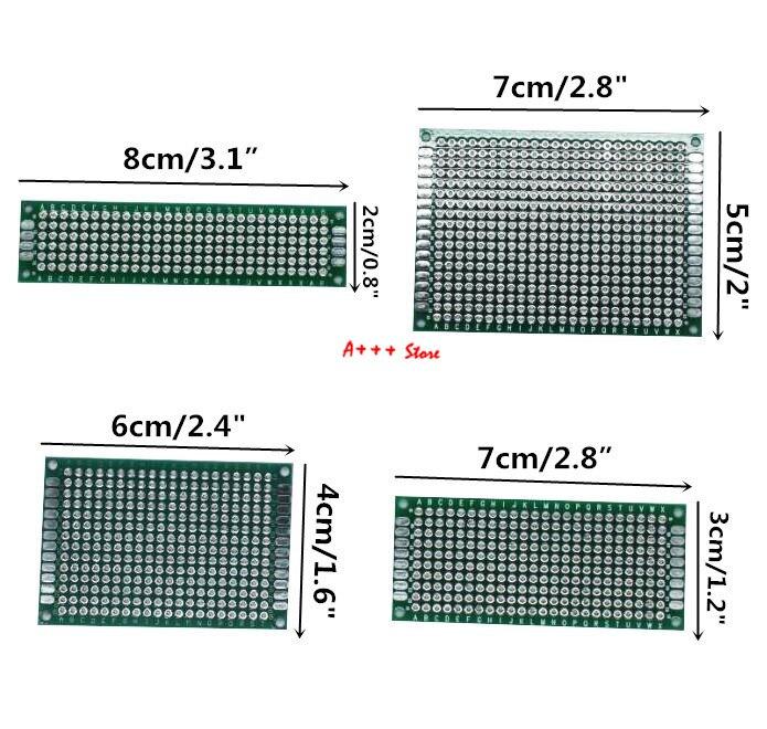 86040 4 шт. 5x7 4x6 3x7 2x8 см двухсторонний медный Прототип pcb универсальная плата электронная плата diy kit PCB