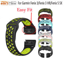 22 26mm Silicone Watch Band Easy Quick Fit Strap for Garmin Fenix 3 3HR/Fenix 5X/5X Plus/Fenix 5/Fenix 5 Plus /Forerunner 935