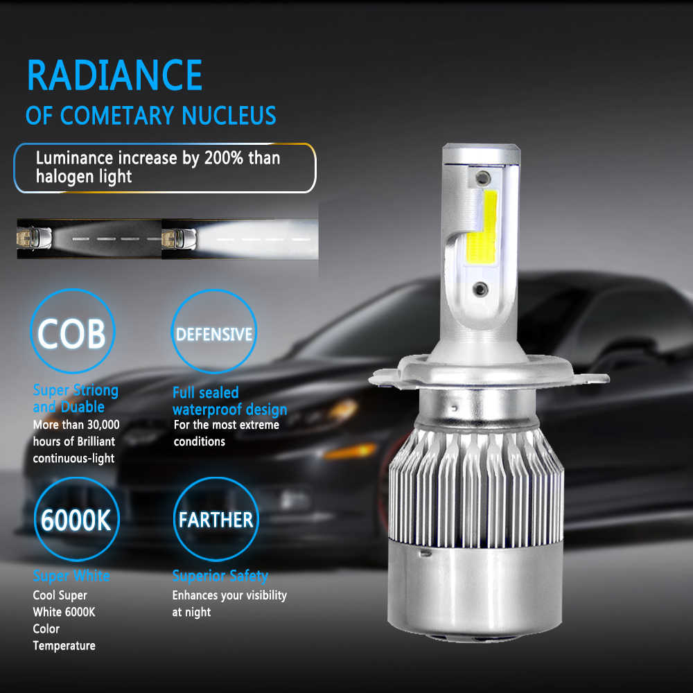 NEW Arrivals Car Lights Bulbs LED H4 H7 H11 LED H1 H3 880 9005 9006 H13 9004 9007 Auto Headlights 12V Led Light Car Accessories