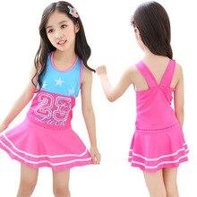 Children Swimwear Cute Girls Summer Swimsuit One Pieces Swim Skirt Suits Kids Bathing Suits Princess Kids Beach Dress Beachwear