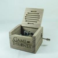 Handmade Smilelife Nature wood hand crank music box Game of Thrones for birthday Christmas new year brand gift free shipping