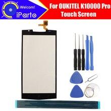 5.5インチoukitel K10000プロタッチスクリーン100% 保証オリジナルガラスタッチパネルタッチスクリーンデジタイザK10000プロ + ツール + 接着剤