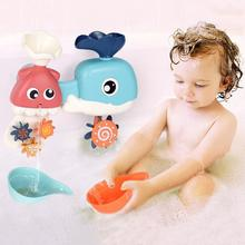 Новинка,, детские игрушки для ванной, для детей, для ванной, для игры в воду, Кит, осьминог, распылитель воды, ветряная мельница для детей, Летний душ