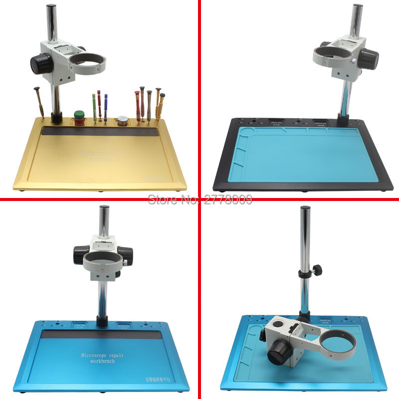 300MM * 400MM Stereo Microscope Repair Workbench Laboratory Instrument Test Bench Industrial Camera Lens Mount 76MM