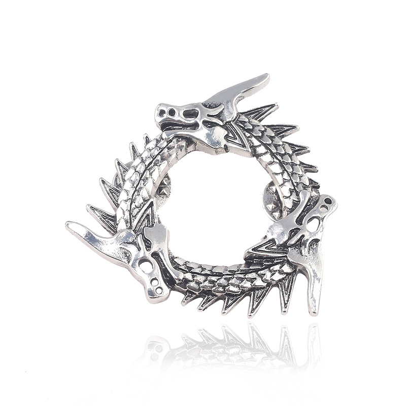 rongji jewelry Movie Game of Thrones 8 Series Song Ice and Fire Metal Badges Dragon Icon Brooch in Brooches from Jewelry Accessories