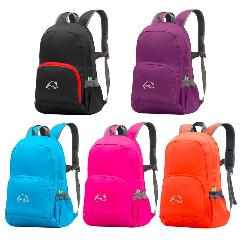 Foldable Backpack Simple Design Floding Women Men Unisex Leisure Bags Sport Schoolbag Rucksack Travel Outdoor Bag 25L