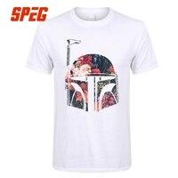 Mini Boba Fett Çiçek Star Wars T Shirt Alışveriş Erkekler Yuvarlak boyun Kısa Kollu Tshirs 100% Pamuk Sıcak Satış Tee Gömlek Erkek