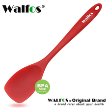 WALFSOS Silicone Spoonula - High Heat Resistant Non-Stick Spatula Spoon Strong Stainless Steel Core- One Piece Design