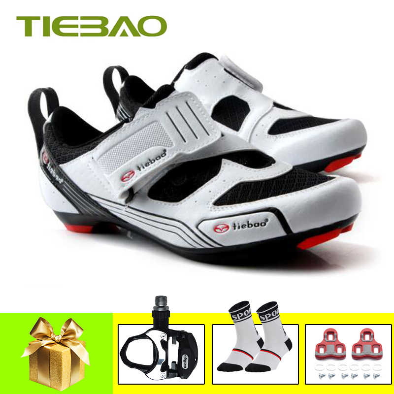 Tiebao road bike shoes Triathlon 2019 women men self-locking sapatilha ciclismo bicycle riding shoes breathable bicicletas shoes