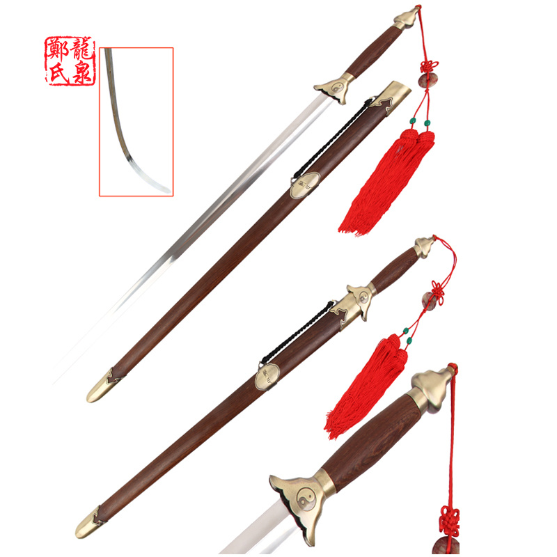 Chinese Martial Art Sword Stainless Steel Flexible For Practice TaiJi Jian WIth Strap Bag GongFu Tools