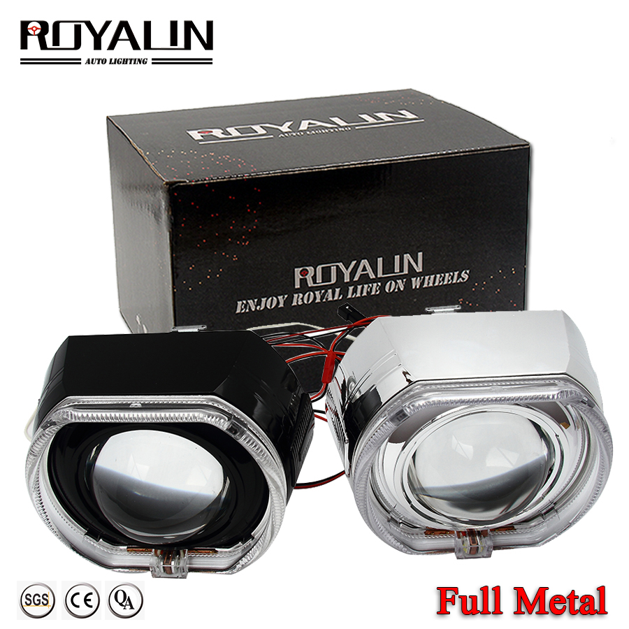 ROYALIN Car Styling Metal H1 Projector Lens 3 0 inch Bi Xenon Headlight Lens For BMW