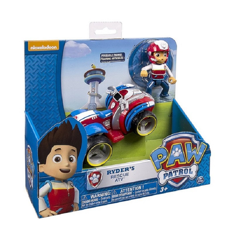 Paw Patrol dog Ryders Rescue ATV Vehicle and Figure figure toy Puppy Dog Patrol Car patr ...