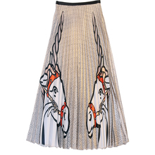 BGSOLID summer new fashion high waist long section slim unicorn print skirt Wholesale and dropshipping skirt are both welcomed