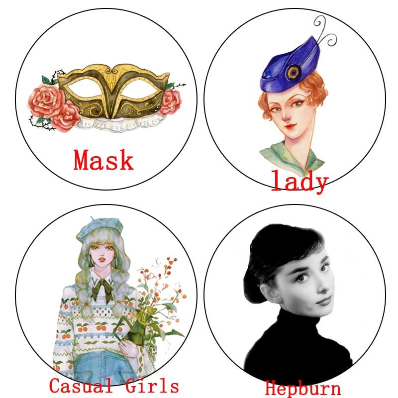 1 Pcs Alideco Washi Masking Tapes Masks Hepburn Lady New Year Adhesive Tapes DIY Paper Scrapbooking Stickers