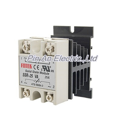 25A AC 380V Solid State Relay Voltage Resistance Regulator w Aluminum Heat Sink 25a ac 380v solid state relay voltage resistance regulator w aluminum heat sink