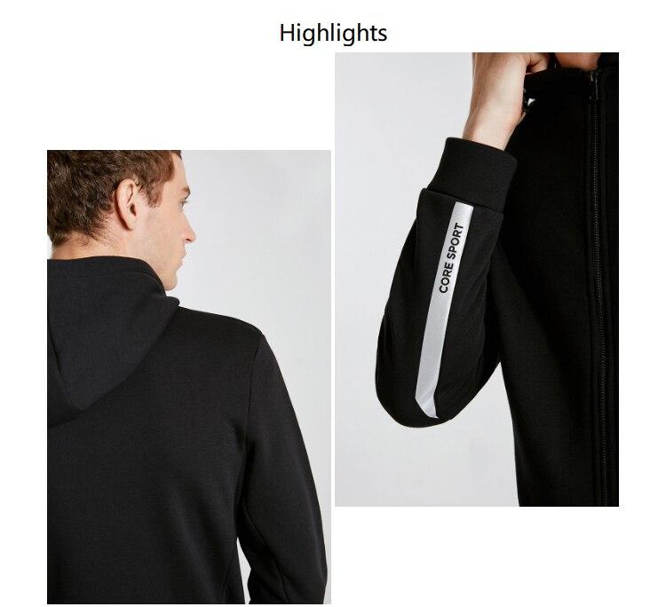 Men's Cardigan Fleeced Hooded Sweatshirt Jacket Men's Hoodies Brand New Fashion Menswear 14