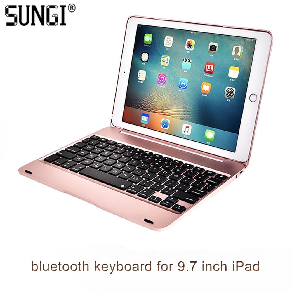 F19 mince clavier Bluetooth avec étui pour iPad Pro 9.7