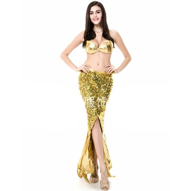 Mermaid Costume Plus Size Halloween Costume For Women Princess Dress