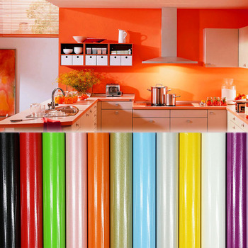 Decoraci n para el hogar pintura rosa vinilo impermeable - Papel decorativo cocina ...