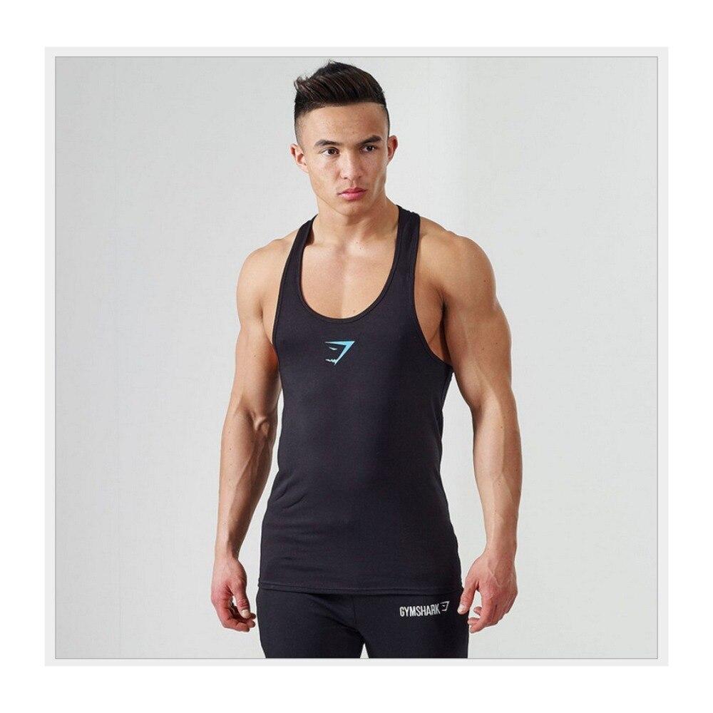 Yeni Marka Erkek Stringer Atlet Pamuk Tank Tops Vücut Geliştirme Ekipmanları Spor erkek Giyim Spor Giyim
