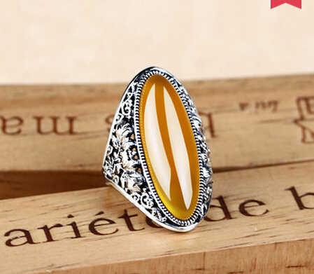 แหวน+++ 412หญิงแฟชั่นแหวนนิ้วโอ้อวดบุคลิกภาพร่วมแหวนแหวนโกเมน
