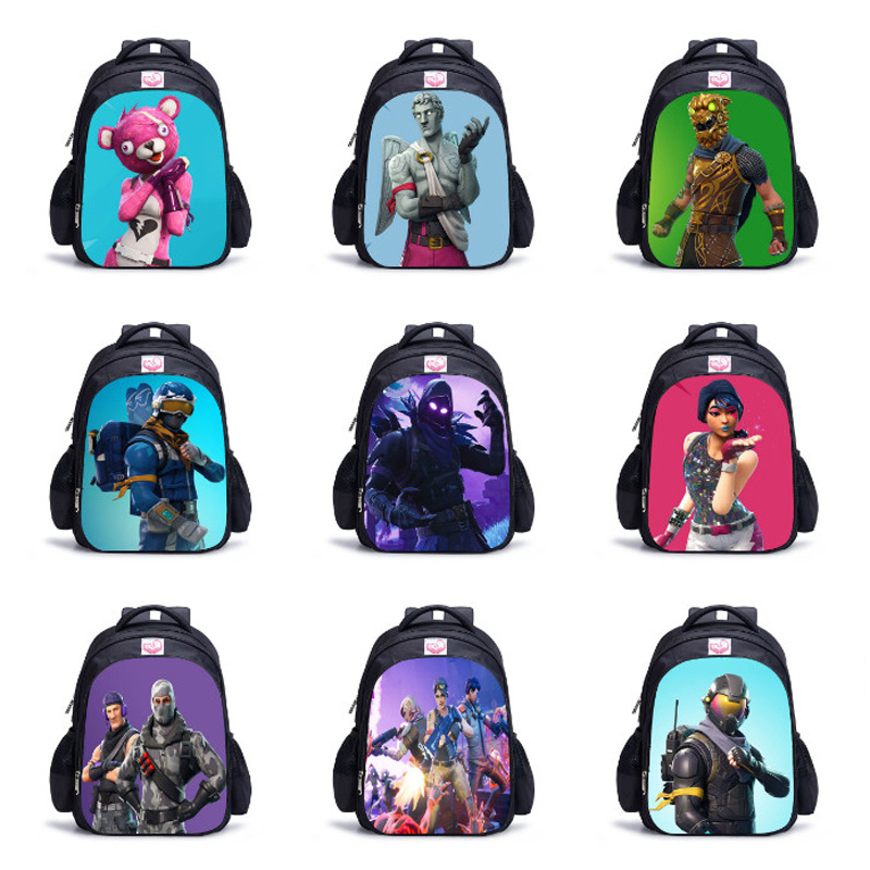 3D Battle Royale Fortnit Game Backpack for Teenagers Boy Girls Children Bags Daily Backpacks Kids Cosplay Costume 32cm*17cm*42cm