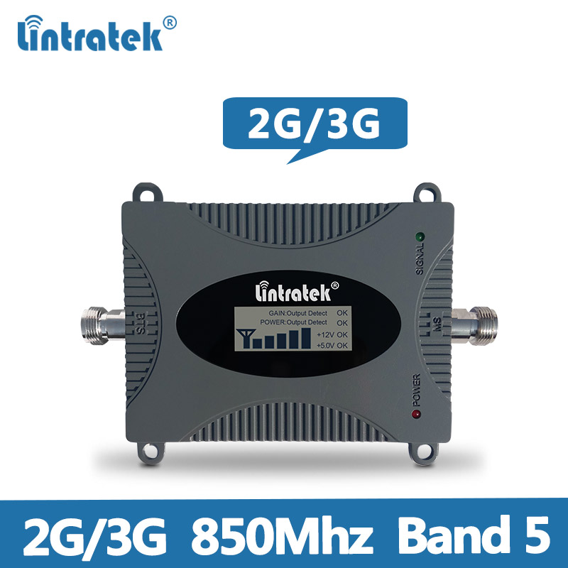 Lintratek CDMA 850MHz Signal Booster 2G 3G Repeater Amplifier CDMA 850MHz Mobile Phone Signal Repeater Band 5