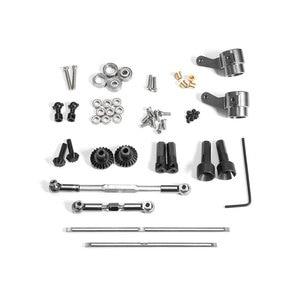 Image 1 - アップグレード金属ギアブリッジ車軸ため WPL 1 C14/C24 JJRC B14/B24 とネジ Rc トラック Rc カー部品