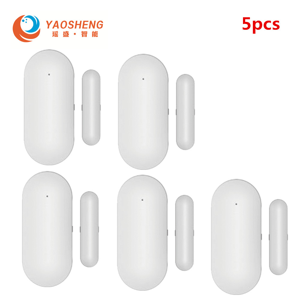 Magnetic Sensors Wireless Door Detector Window Sensor WiFi App For 433MHz Home Security Detector Alarm System Kits