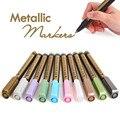 1 шт. 2 мм Цветной металлик перманентные маркер-краски подарок на день рождения карты Цвет серебристый, золотой белый маркер