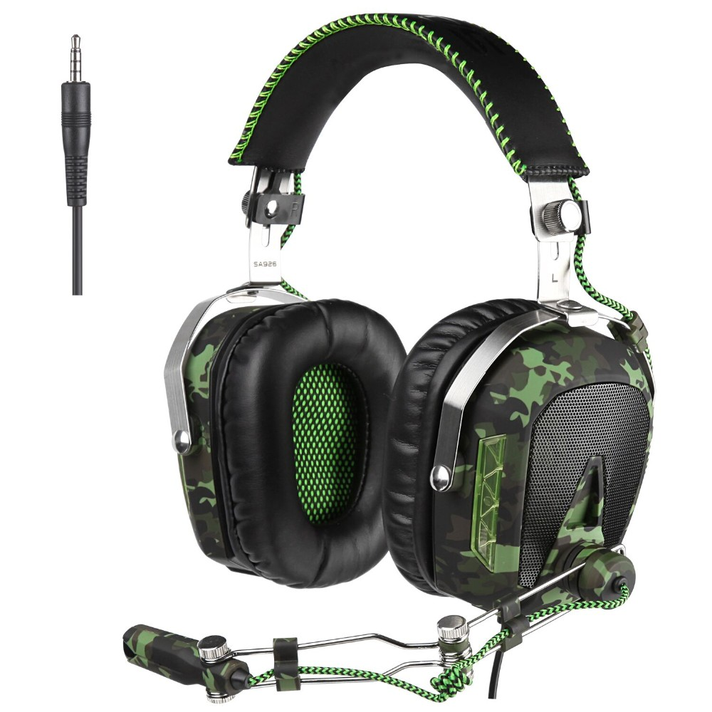 SADES SA926 Gaming Headset 3.5mm Wired Over-Ear Headphones with Mic for PC/PS3/PS4/Xbox One/Xbox 360/Phone/Mac/Laptop(ArmyGreen)