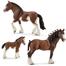 Original Simulation Animal Figurine Model Toy Andalusian Clydesdale Horse Figure Doll PVC Collectible Figure Education Toy