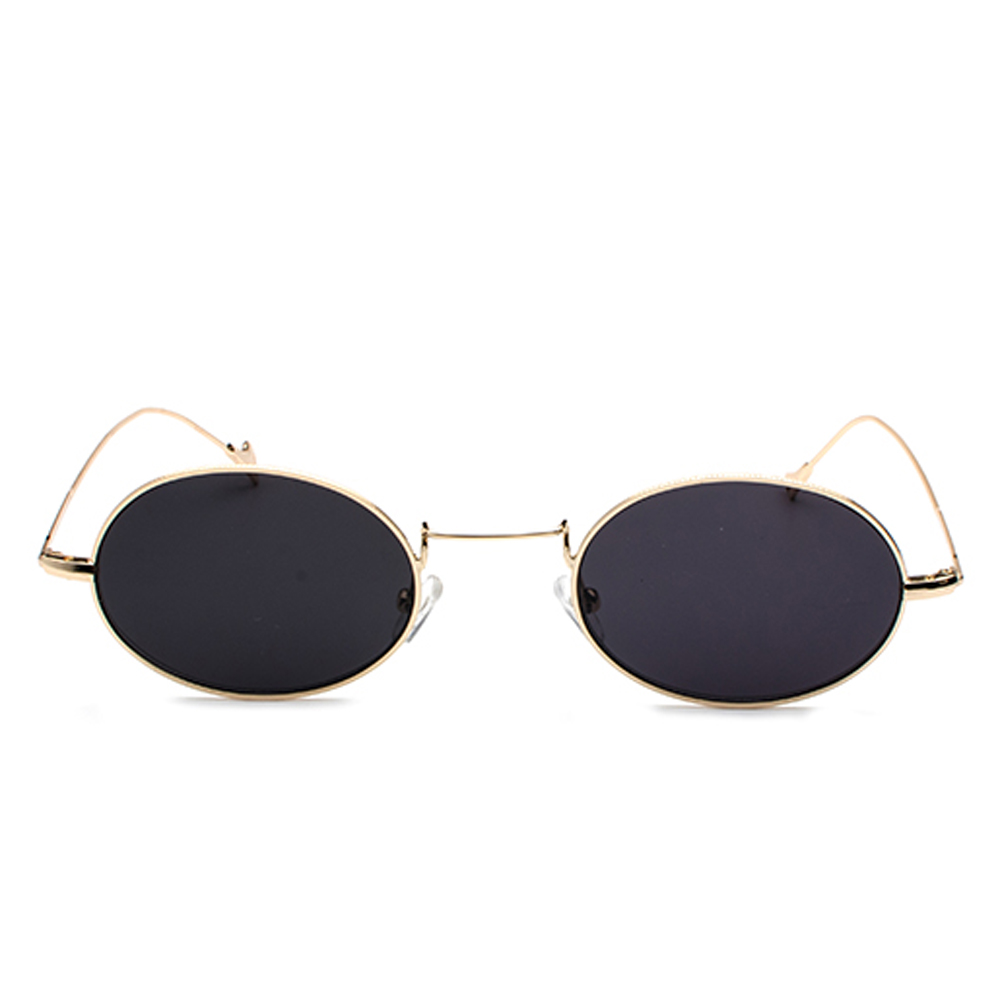 24abdeb21d8 Kachawoo wholesale 6pcs small oval retro sunglasses men gold metal frame  red blue vintage sun glasses for women round UV400