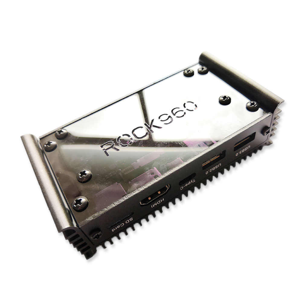 ROCK960 Board, Smallest RK3399 solution 96Boards (2GB or 4GB LPDDR3 @  1866MHz ) HDMI 2 0 up to 4K, Support with AOSP & Linux