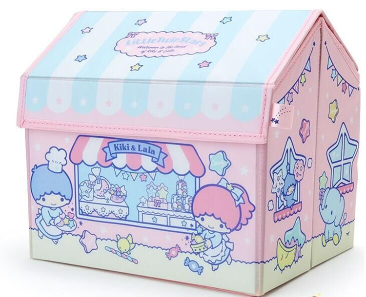 1 Pcs Cartoon House Design My Melody Twin Stars Clothing Socks Bra Makeup Storage Box Organizer For Doll Accessory