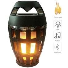 2 в 1, атмосферный светильник с пламенем, bluetooth колонка, портативный беспроводной Стереодинамик с музыкальной лампочкой, уличный, для кемпинга, НЧ динамик