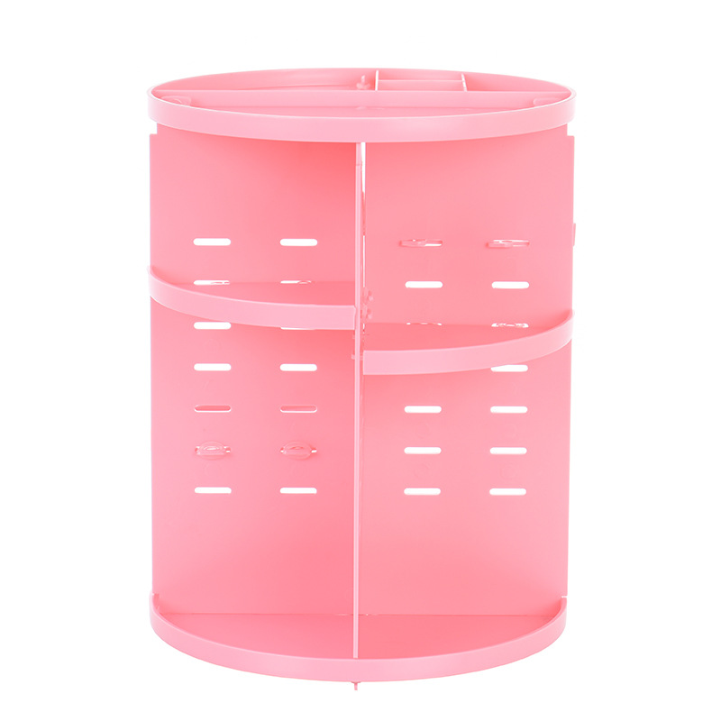 360 Rotating Makeup Organizer Storage Box Adjustable Plastic Cosmetic Brushes Lipstick Holder Make Up Jewelry Container Stand 15
