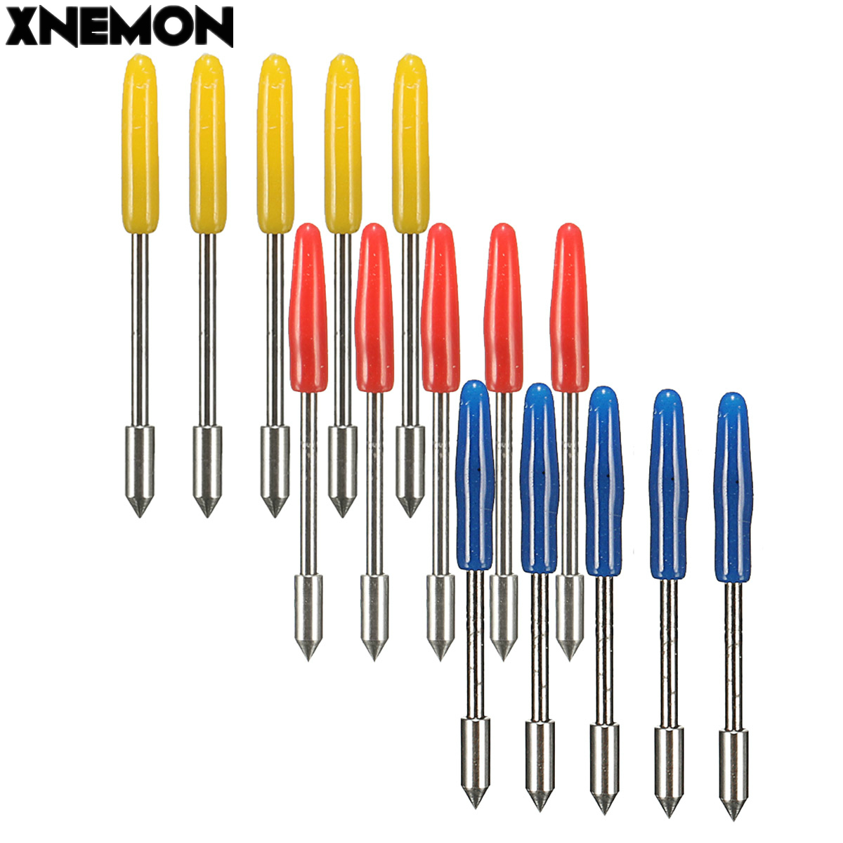 XNEMON 5pcs Engraving Machine Blades Cutter For Graphtec CB09 Vinyl Cutter Plotter Handle diameter: 1mm Overall Length:20mm(China)