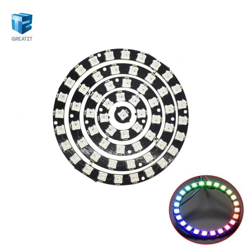 Sincere 16 Bit Ws2812 5050 Rgb Led Full-color Built-in Driving Lights Round Development Board Active Components