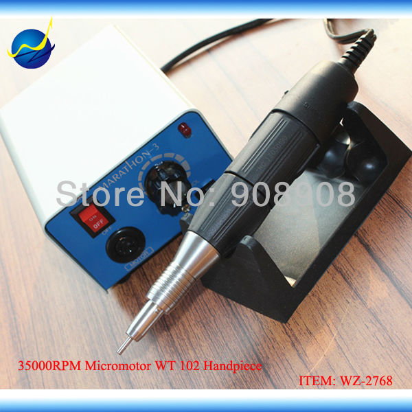 220V / 110V Marathon N3 Micro motor Polishing + 35k RPM WT 102 Handpiece Electric Polisher for lab, jewelry and industry