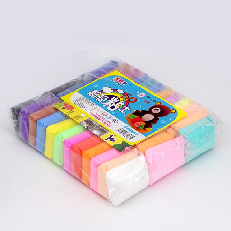 12/24/36 Colors Air Dry Super Light Clay Kids Early Education Toys DIY Colored Clay Creative Colorful Plasticine