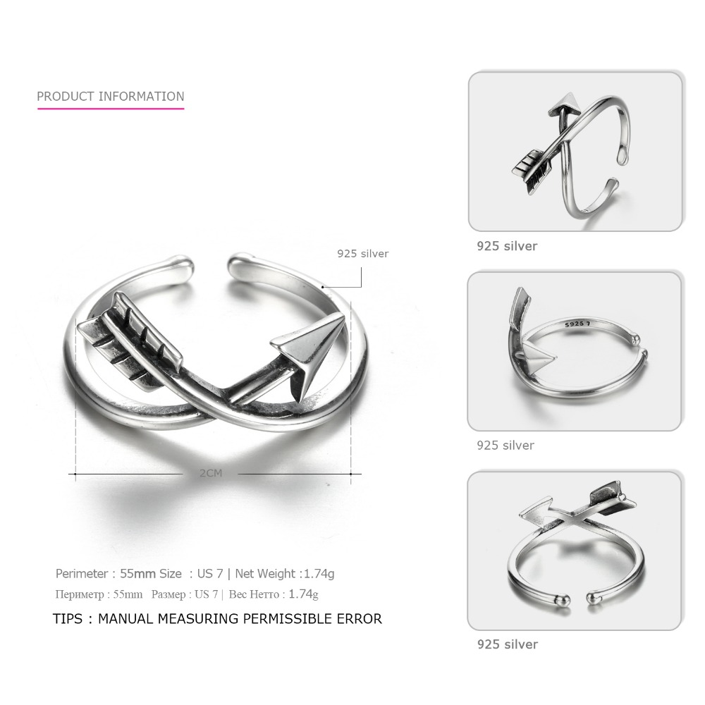 Tardoo Authentic 925 Sterling Silver Women's Rings Hot Fashion Classical  Arrow Wrap Rings Design Silver 925 jewelry-in Rings from Jewelry &
