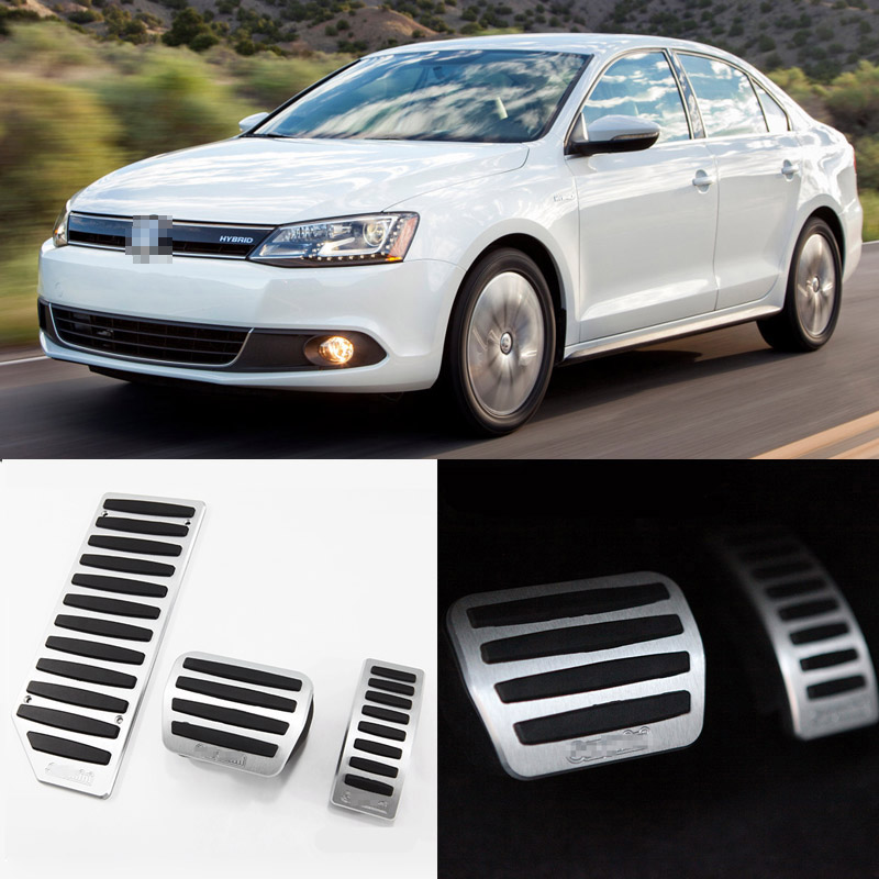 Brand New 3pcs Aluminium Non Slip Foot Rest Fuel Gas Brake Pedal Cover For VW Jetta AT 2013-2016 brand new 3pcs aluminium non slip foot rest fuel gas brake pedal cover for vw touran at 2008 2015